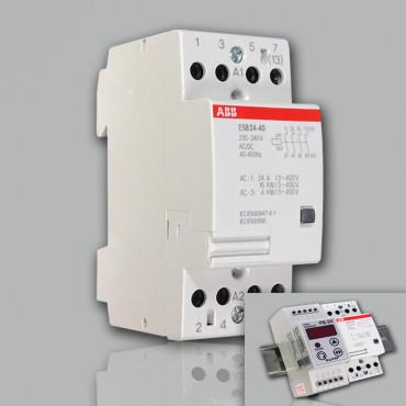 Модульный контактор ABB ESB-25-40 (25А AC1, 4НО) 220В АС/DC